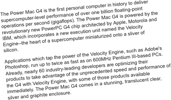 Apple press release for Seybold 1999
