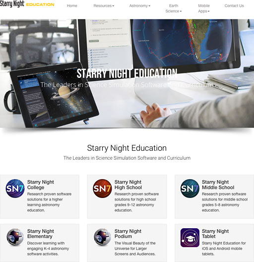 Starry Night website in 2016
