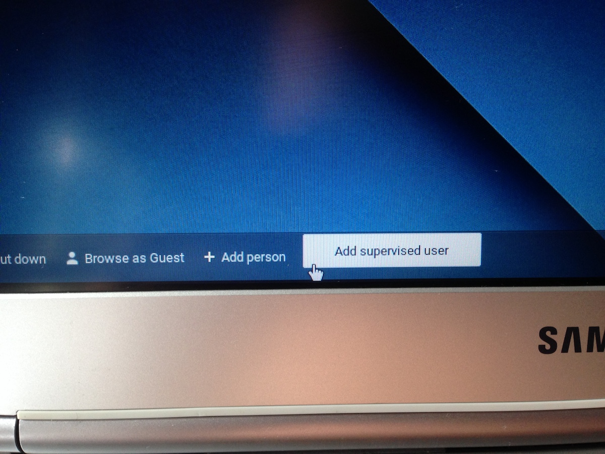 how to change user account in chromebook