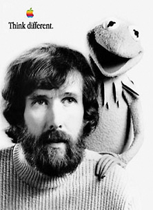 Think Different poster, Jim Henson and Kermit the Frog