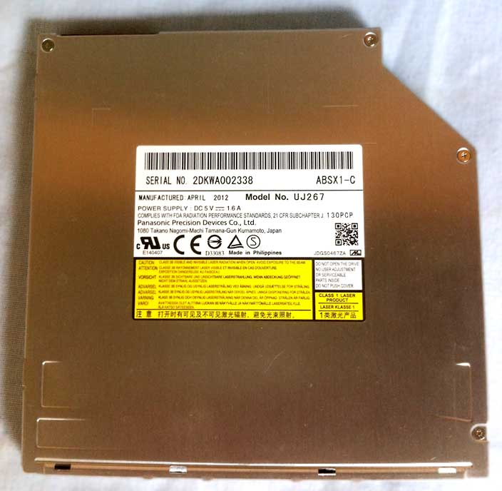 UJ-267 Blu-ray drive