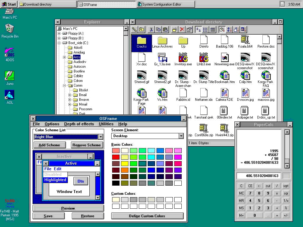 Windows 95 big step forward or blatant mac ripoff low for Window 3 nmat