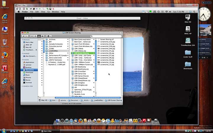Accessing my home iMac from my office Windows PC