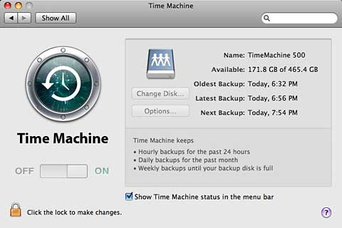 Time Machine ready to backup to remote shared drive