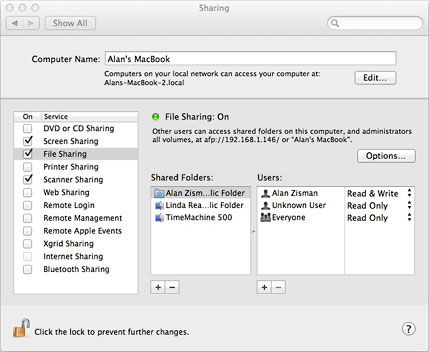 Enabling screen sharing in OS X 10.7 Lion